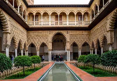 El Alcázar de Sevilla.