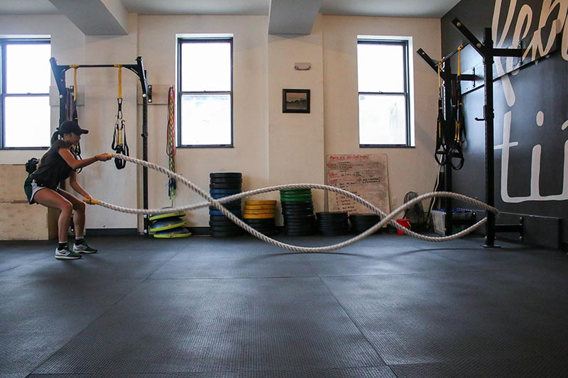 Un gimnasio es un buen ejemplo de crear valor mediante un recurso compartido.