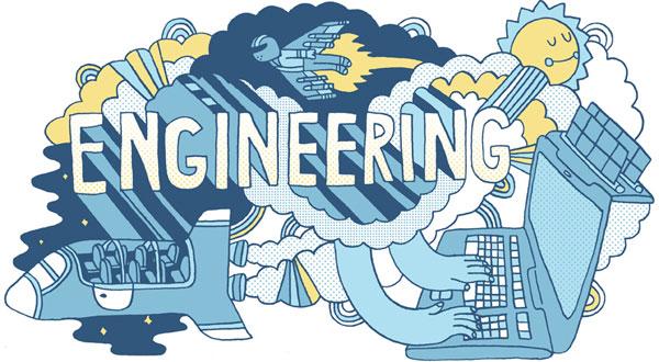 Ingenieros MBA haciendo cohetes, ordenadores y placas solares fotovoltaicas.