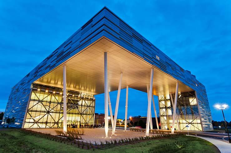 Rutgers Business School, impresionante edificio de cristal.