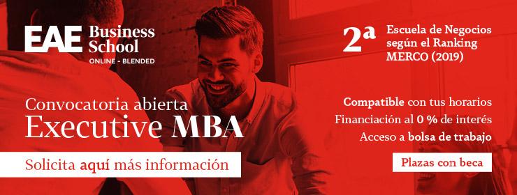 Anuncio máster Executive MBA online de EAE Business School